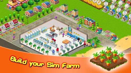 Sim Farm - Harvest, Cook & Sales  screenshots 1