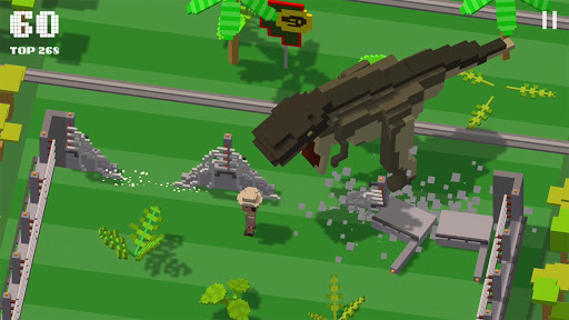 Jurassic Hopper: Crossy Dinosaur Shooter Game APK MOD – Monnaie Illimitées (Astuce) screenshots hack proof 1