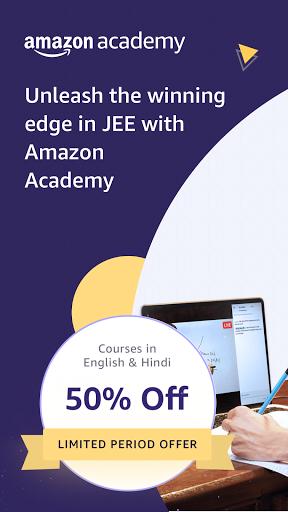 Amazon Academy - IIT JEE Live Courses screen 0