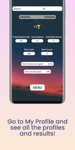 Fast Typing - Learn to type fast! 2.3 screenshots 6