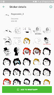 Free WAStickerApps meme  Rage Faces  Comics stickers Apk Download 2021 4