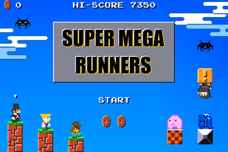 Super Mega Runners : Stage maker Create your game Screenshot