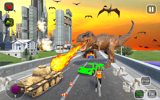 Extreme City Dinosaur Smash Battle Rescue Mission  screenshots 9