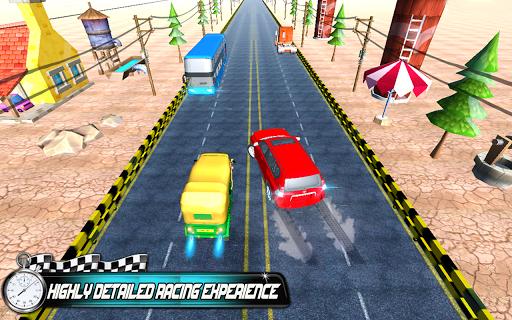 Prado vs Tuk Tuk Auto Rickshaw Racing  screenshots 1