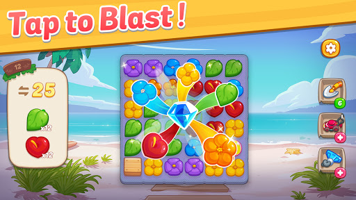 Ohana Island - Design Flower Shop & Blast Puzzle apkslow screenshots 6