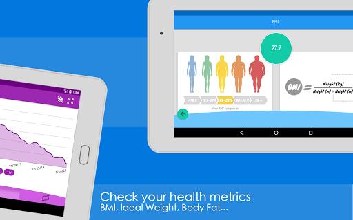 Weight Diary - Weight Loss Tracker, BMI, Body Fat 3.6.0.1 Screenshots 15