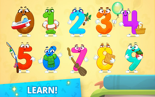 Numbers for kids - learn to count 123 games!  screenshots 1