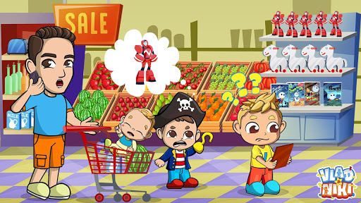 Vlad & Niki Supermarket game for Kids  screenshots 14