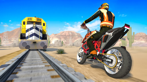 Bike vs. Train u2013 Top Speed Train Race Challenge modavailable screenshots 8