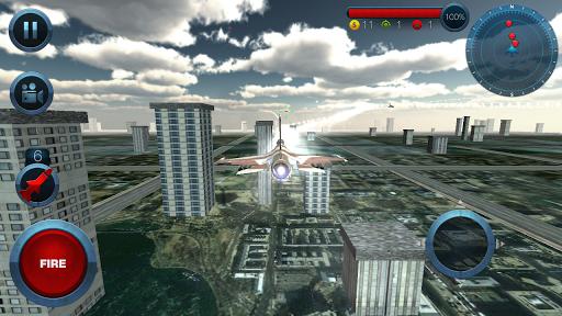 Code Triche Jet Plane Fighter City 3D  APK MOD (Astuce) screenshots 1