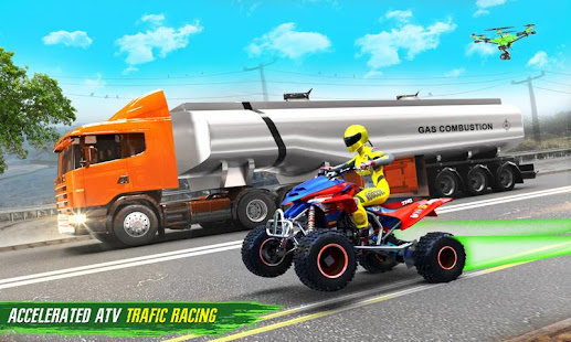 Light ATV Quad Bike Racing, Traffic Racing Games 19 Screenshots 2