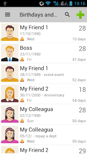Birthdays & Other Events Reminder 2.00 screenshots 1