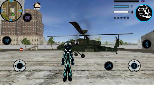 Neon Iron Stickman Rope Hero City Gangstar Mafia  Screenshots 1