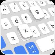 Simple White Blue Keyboard