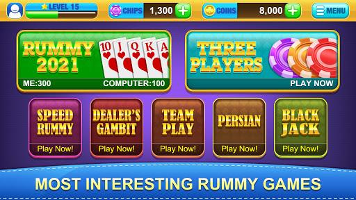 Rummy 2021 - Free Gin Rummy Offline Card Game  screenshots 1