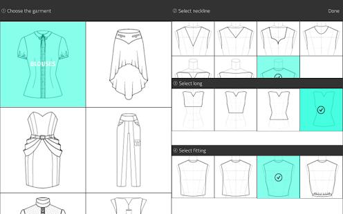 ファッションデザインフラットスケッチ