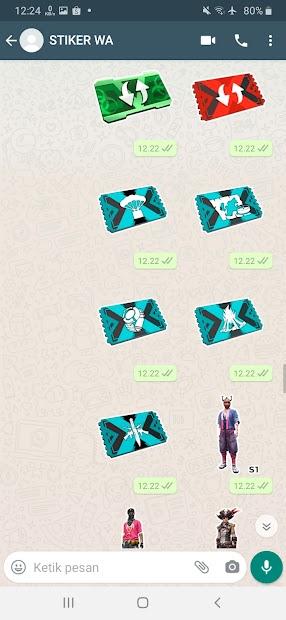 Captura de Pantalla 20 de Sticker WA Free Fire FF Emote 2021 WAStickerApps para android