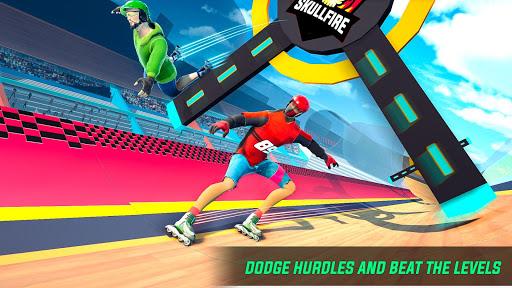 Sky Roller Skate Stunt Games 2021 - Roller Skating 2.1 screenshots 7