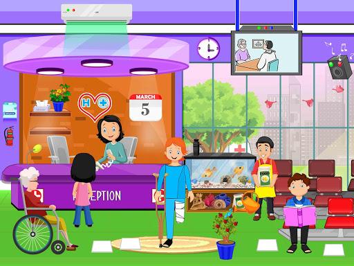 Télécharger Faire semblant à l'hôpital de la ville: jeu de la apk mod screenshots 3
