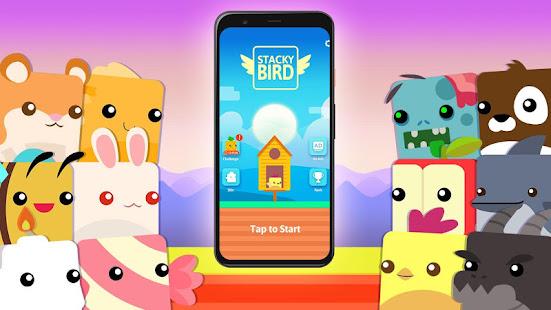 Image For Stacky Bird: Hyper Casual Flying Birdie Dash Game Versi 1.0.1.61 4
