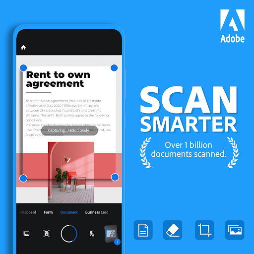 Adobe Scan: PDF Scanner with OCR, PDF Creator android2mod screenshots 1