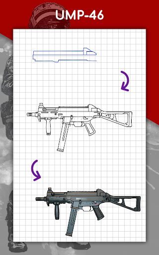 How to draw weapons step by step, drawing lessons  screenshots 24