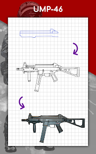 How to draw weapons step by step, drawing lessons 1.6.4 Screenshots 16
