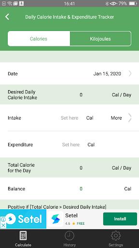 Weight Calorie Watch 3.2 Screenshots 4