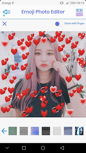 Emoji Photo Editor ud83dudc99 (Emoji & Crown Heart Emoji) 3.1 Screenshots 4