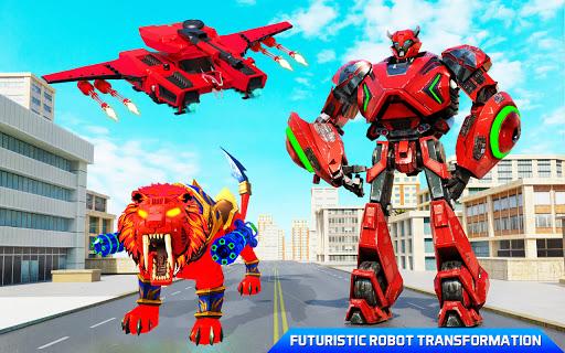 Flying Tank Transform Robot War: Lion Robot Games 10.3.0 Screenshots 6