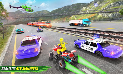 Light ATV Quad Bike Racing, Traffic Racing Games 19 Screenshots 5