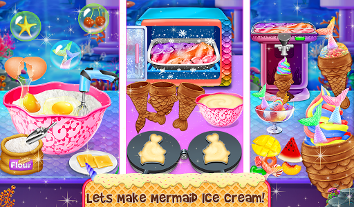 Ice Cream - Frozen Desserts Rainbow Unicorn  screenshots 6