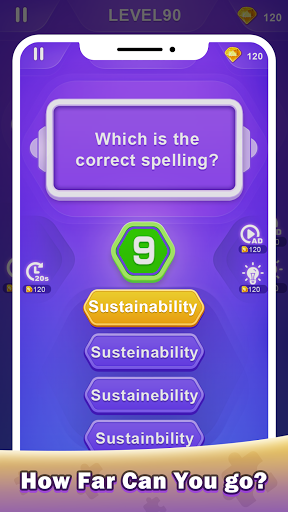 Spellingu00a0Master - Trickyu00a0Wordu00a0Spellingu00a0Game 1.0.3 screenshots 4