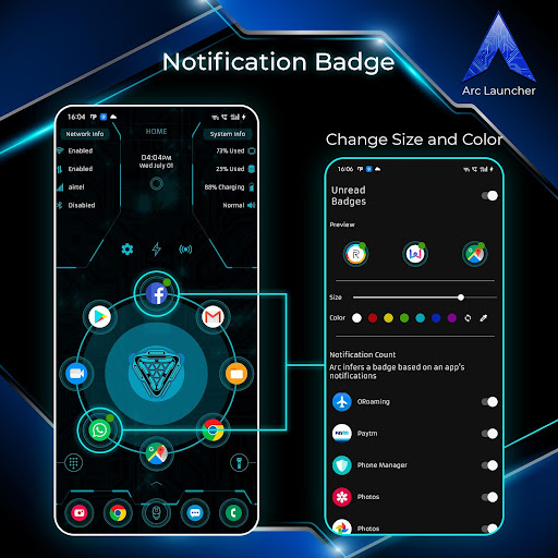 ARC Launcher 2021 Themes Wallpapers Lock Hide Apps