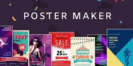 Poster Maker Flyer Maker 2020 free graphic Design  screenshots 1