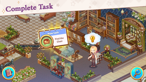 Kawaii Mansion: Cute Hidden Object Game apkpoly screenshots 4