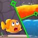 魚を救う-ピンゲームを引く