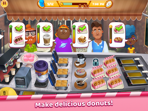 Boston Donut Truck - Fast Food Cooking Game screenshots 15