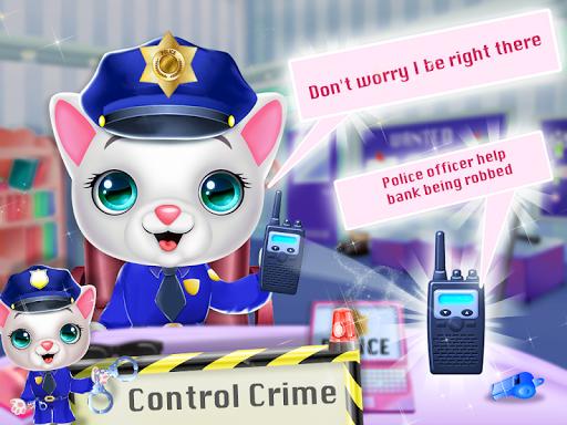 Kitty Cat Police Fun Care & Thief Arrest Game  screenshots 1