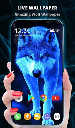 Ice Wallpaper and Keyboard - Lone Wolf  screenshots 1