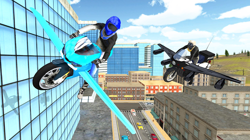 Flying Motorbike Simulator android2mod screenshots 9