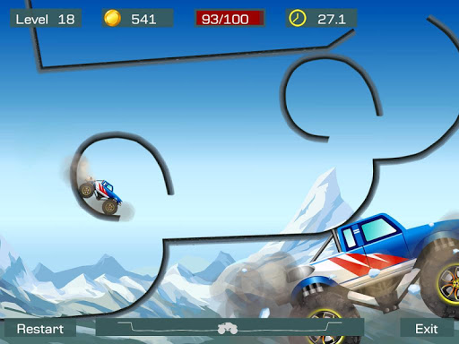 Monster Stunts -- monster truck stunt racing game apkslow screenshots 7