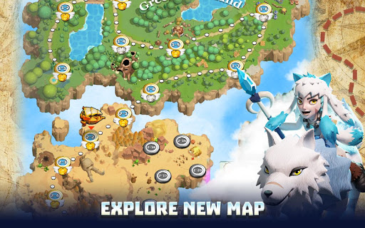 Wild Sky TD: Tower Defense Legends in Sky Kingdom  screenshots 5