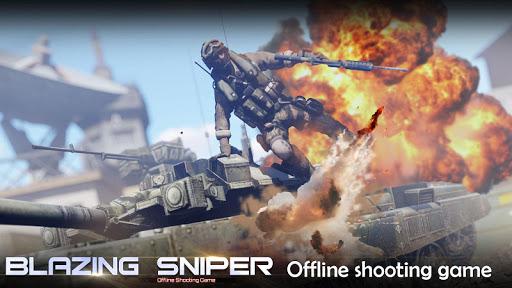 Blazing Sniper - offline shooting game 1.8.0 screenshots 1