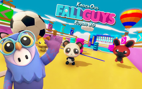 Knockout Fall Guys Royale 3D: Human Knock Over