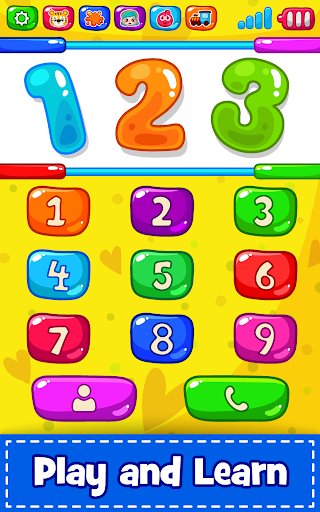 Baby Phone for toddlers - Numbers, Animals & Music 3.3 screenshots 2