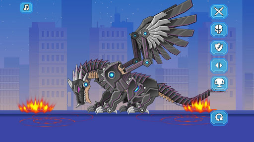 Robot Black Dragon Toy War modiapk screenshots 1