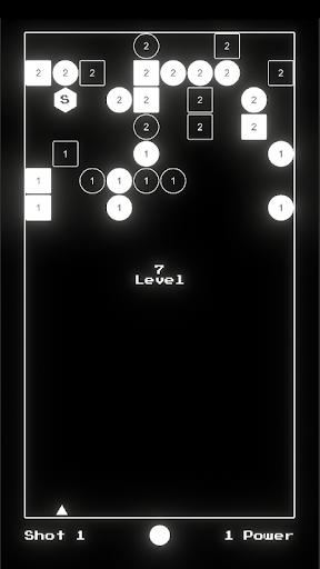 hyper block breaker black&white screenshot 2