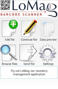LoMag Barcode Scanner to Excel – free inventory QR 1