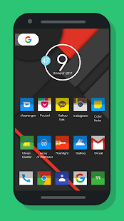 Nougat Square - Icon Pack Screenshot